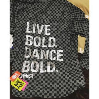 ズンバ(Zumba)の新作✨ZUMBA 腰巻きシャツ バックロゴチェッカーシャツ(ダンス/バレエ)
