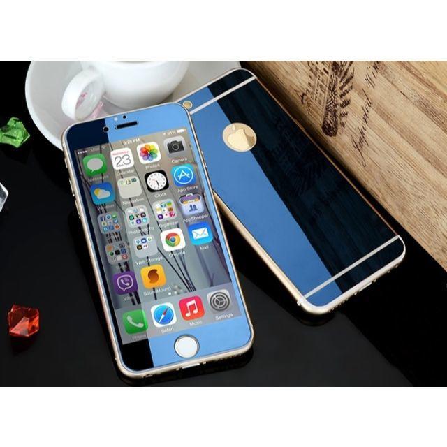 burch iphone7plus ケース 三つ折 | ネコポス無料iPhone専用アルミバンパー 鏡面ガラスフィルム Logoホール付の通販 by R-Lifeショップ@即購入OK♪日曜祝日休み!|ラクマ