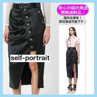 セルフポートレイト(SELF PORTRAIT)の★新品★セルフポートレイト スカート 黒 5号相当 UK4(ミニスカート)