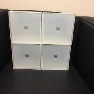 ムジルシリョウヒン(MUJI (無印良品))の無印CDボックス 4個(ケース/ボックス)