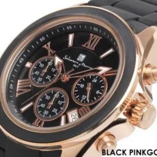 サルバトーレマーラ(Salvatore Marra)の限定モデル サルバトーレマーラ メンズ ブラック デザイン 腕時計(腕時計(アナログ))