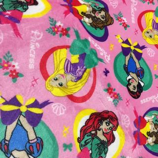 ディズニー(Disney)のディズニープリンセス♡フランネルラグ ラグカーペット 約130×180センチ(ラグ)