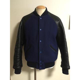 ザリアルマッコイズ(THE REAL McCOY'S)の旧 リアルマッコイズ スタジャン 40 青黒 ジョーマッコイ ジャケット XPV(スタジャン)