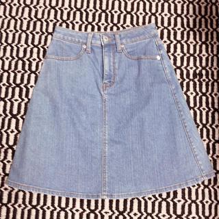 GU - デニム★台形スカート