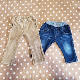 ムージョンジョン(mou jon jon)の90㎝ ズボン2枚セット(パンツ/スパッツ)