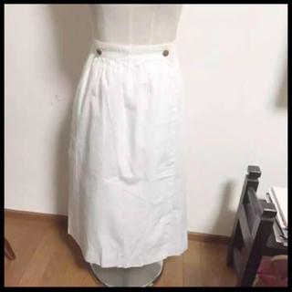 エルメス(Hermes)のポムフリットさま専用エルメス 白スカート(ロングスカート)