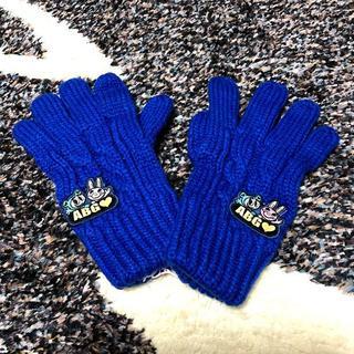 エンジェルブルー(angelblue)の新品♪エンジェルブルー♪ニット手袋(ブルー)定価5145円(手袋)