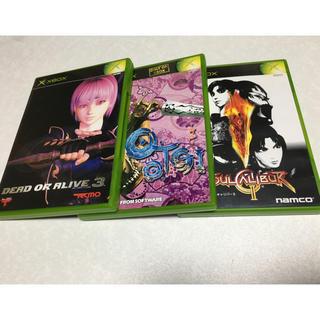 エックスボックス(Xbox)のXBOXソフト3本(家庭用ゲームソフト)