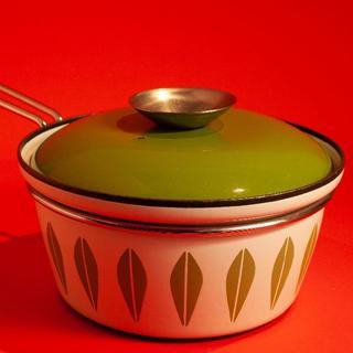 キャサリンホルム(Catherineholm)のキャサリンホルム ロータス グリーン 片手鍋 ホワイト/グリーン柄(鍋/フライパン)