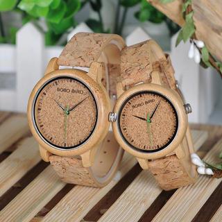 【残りわずか!】大人気!コルクペア腕時計!(腕時計)