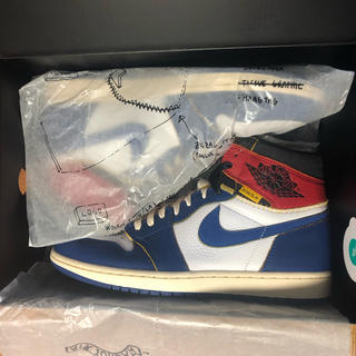 ナイキ(NIKE)のUnion Air Jordan 1【28.0cm】Blue(スニーカー)