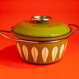 キャサリンホルム(Catherineholm)のキャサリンホルム ロータス グリーン 両手鍋 グリーン/ホワイト柄(鍋/フライパン)