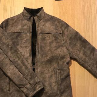 エムケーミッシェルクランオム(MK MICHEL KLEIN homme)の美品MK MICHEL KLEIN homme ムートンダブルジップジャケット(レザージャケット)