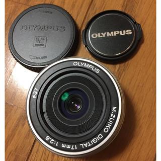 オリンパス(OLYMPUS)のオリンパス 17mm F2.8 パンケーキレンズ 単焦点レンズ (レンズ(単焦点))