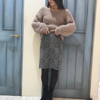 アンティックラグ(antic rag)の♡総レースタイトスカート♡ gray(ひざ丈スカート)