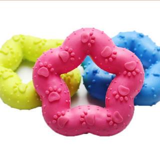 犬猫用星型ゴムおもちゃ(おもちゃ/ペット小物)