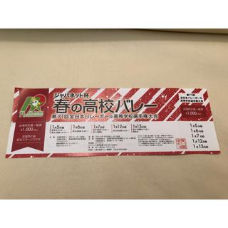 春高バレー チケット(バレーボール)