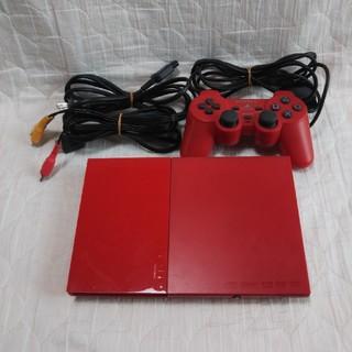 プレイステーション2(PlayStation2)のPS2 プレイステーション2 本体 シナバー・レッド SCPH-90000CR(家庭用ゲーム本体)