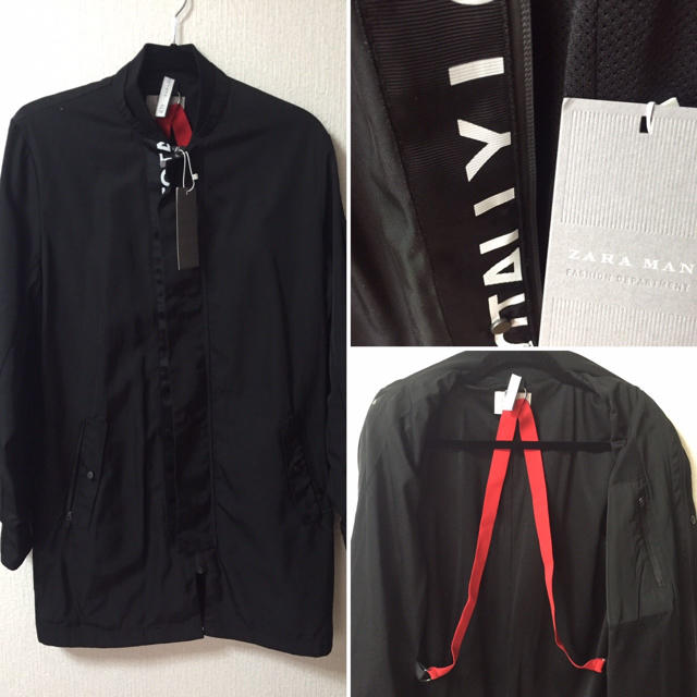 ZARA(ザラ)の新品♡ロゴロングma-1 DIESEL MSGM GIVENCHY  メンズのジャケット/アウター(ブルゾン)の商品写真
