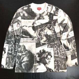 シュプリーム(Supreme)の希少◆正規品◆17AW シュプリーム ミケランジェロ 絵画柄 長袖Tシャツ S(Tシャツ/カットソー(七分/長袖))