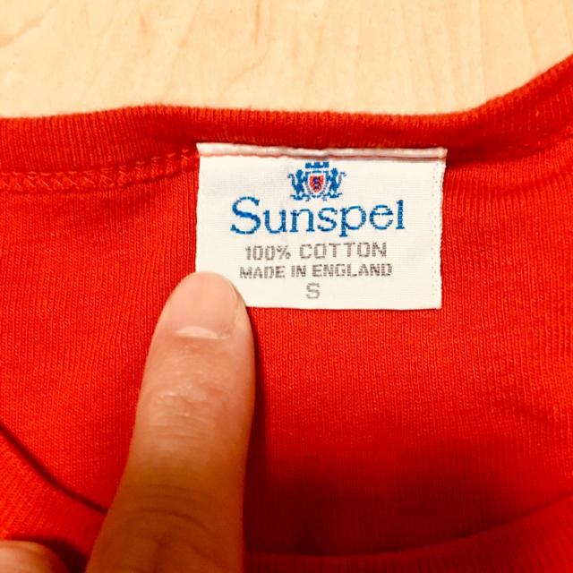 SUNSPEL(サンスペル)のSUNSPEL サンスペル/100%コットン  Tシャツ  レッド(赤) メンズのトップス(Tシャツ/カットソー(半袖/袖なし))の商品写真
