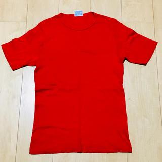 サンスペル(SUNSPEL)のSUNSPEL サンスペル/100%コットン  Tシャツ  レッド(赤)(Tシャツ/カットソー(半袖/袖なし))