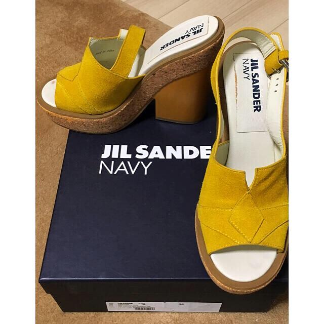 Jil Sander(ジルサンダー)のジルサンダーネイビー サンダル レディースの靴/シューズ(サンダル)の商品写真
