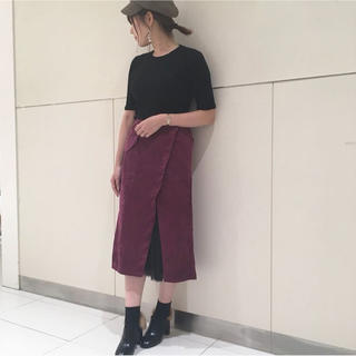 アンティックラグ(antic rag)の♡anticrag 裾レースコーデュロイスカート♡(ロングスカート)