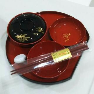 【新品】お食い初め食器 会津塗 石付き