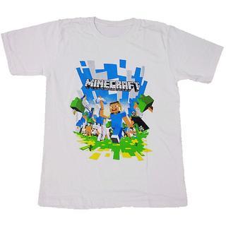 【在庫複数あり】マインクラフト■プリントTシャツ■Sホワイト■男女兼用(Tシャツ(半袖/袖なし))
