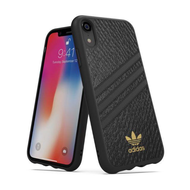 adidas(アディダス)の【iPhoneXR】アディダスadidasレザー風カバーケース スマホ/家電/カメラのスマホアクセサリー(iPhoneケース)の商品写真