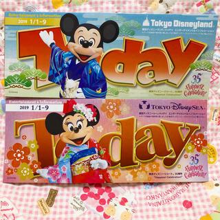ディズニー(Disney)のディズニーToday2019 1/1〜9(印刷物)