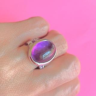 大粒 アメジストSilver925  リング(リング(指輪))