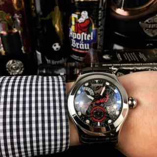 コルム(CORUM)のメンズ CORUM コルム 大人気 腕時計 専用箱付き 新品同様(レザーベルト)
