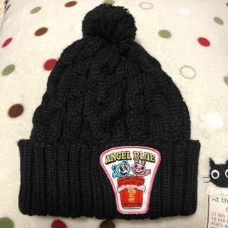 エンジェルブルー(angelblue)の新品♪エンジェルブルー♪ニット帽子/黒 定価5565円(帽子)