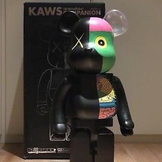 美品 BE@RBRICK ベアブリック KAWS 人体模型 ブラック 1000%