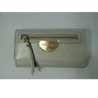 バイオレットハンガー(Violet Hanger)の本物未使用本革バイオレッドハンガー長財布ラウンドグレーレディースビジネス(財布)