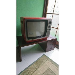 昭和レトロなテレビ台【折り畳み式】(電話台/ファックス台)