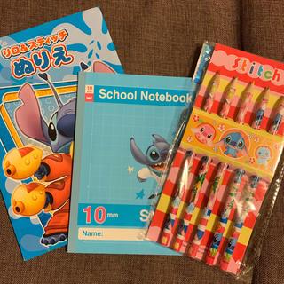 ディズニー(Disney)の【新品未使用】Disney リロ&スティチ 色鉛筆&ぬりえ・ノート3点☆再値下(色鉛筆 )