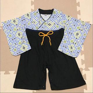 袴 ロンパース 80 靴下付き(和服/着物)