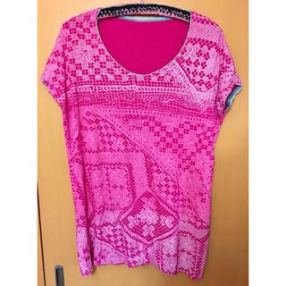 アッシュペーフランス(H.P.FRANCE)のJuana de Arco ホォアナデアルコ ビッグTシャツワンピース ピンク2(Tシャツ(半袖/袖なし))