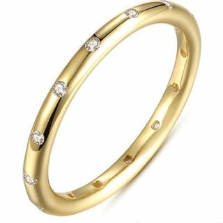 ジルコニア リング 17号 ゴールドタイプ(リング(指輪))