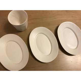 イデー(IDEE)の井山三希子 オーバルプレート 湯呑み(食器)