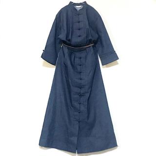 カネコイサオ(KANEKO ISAO)のインゲボルグ チャイナデニムop 羽織り(ロングワンピース/マキシワンピース)