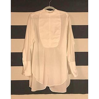 ジョンリンクス(jonnlynx)のfumika_uchida バックオープンドレスシャツ サイズ34(シャツ/ブラウス(長袖/七分))