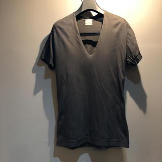 ジョンリンクス(jonnlynx)のジョンリンクス  コットンVネックT ブラック M(Tシャツ(半袖/袖なし))