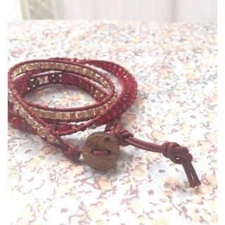チャンルー(CHAN LUU)の新品 ラップ ブレスレット 赤(ブレスレット/バングル)