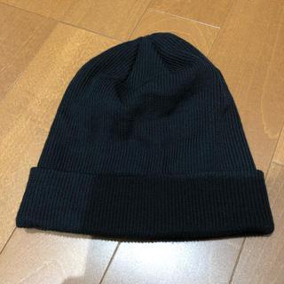 カシラ(CA4LA)の【美品 1度使用】CA4LA ブラック ニットキャップ(ニット帽/ビーニー)