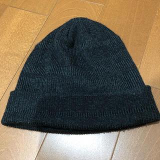 カシラ(CA4LA)の【数回使用】CA4LA ダークグレー ニットキャップ(ニット帽/ビーニー)