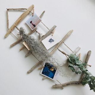 流木ラダー˚✧₊⁎クリップつき 流木タペストリー ナチュラルインテリア(家具)